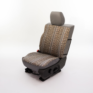 Grey Custom Truck Saddle Blanket Seat Covers